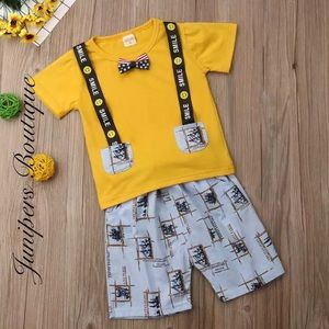 Other - Boutique Boys 2pc Happy 😊 Outfit